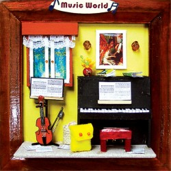 DIY KIT: 3D Picture Frame Life Series - Music World