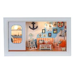 DIY KIT: 3D Frame Box - Long Vacation Aegean Sea Villa