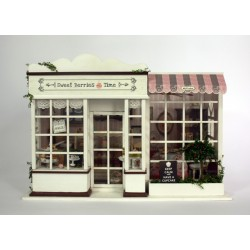"DIY KIT: WOODEN DREAM DOLLHOUSE MINIATURE ""Donut Shop"""