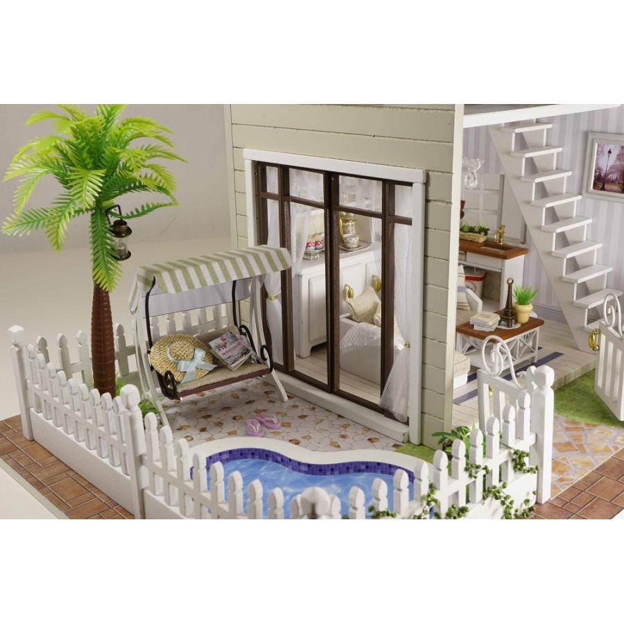Diy kit dollhouse miniature paris apartment