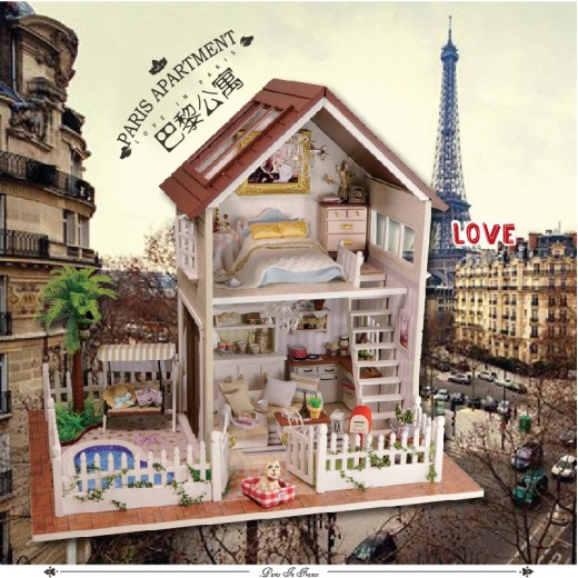 DIY KIT: Dollhouse Miniature - Paris Apartment