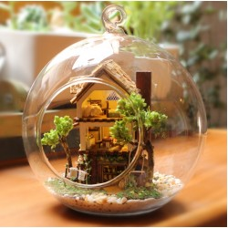 DIY KIT : Mini Glass Ball - Forest Dream Island