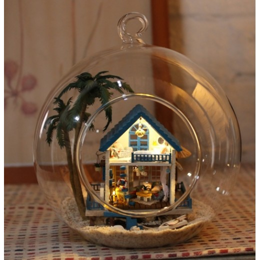 DIY KIT : Mini Glass Ball - Romantic Aegean Sea