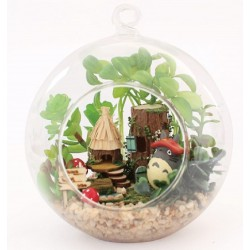 DIY KIT : Mini Glass Ball - Elf Tribe (Totoro)