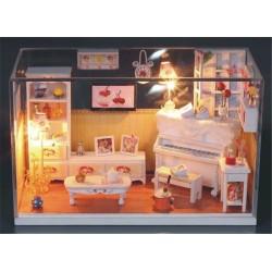 DIY KIT: Dollhouse Crystall Room - Warm House