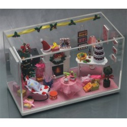 DIY KIT: Dollhouse Crystall Room - Merry X'mas Time