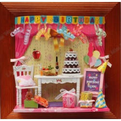 DIY KIT: 3D PICTURE FRAME HAPPY BIRTHDAY