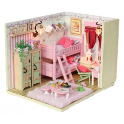 DIY KIT: Dollhouse Crystall Room - My Little Buddies (Pink)