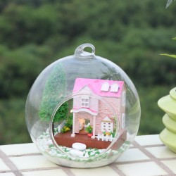 DIY KIT: Mini Glass Ball - Pink Sweet Heart