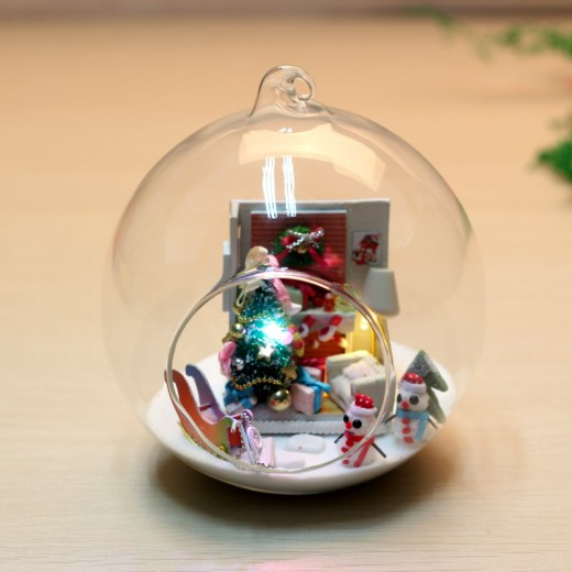 DIY KIT: Mini Glass Ball - Merry X'mas