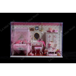 "DIY KIT: LED Light Crystal Dollhouse Miniature ""Dream of Pink"""