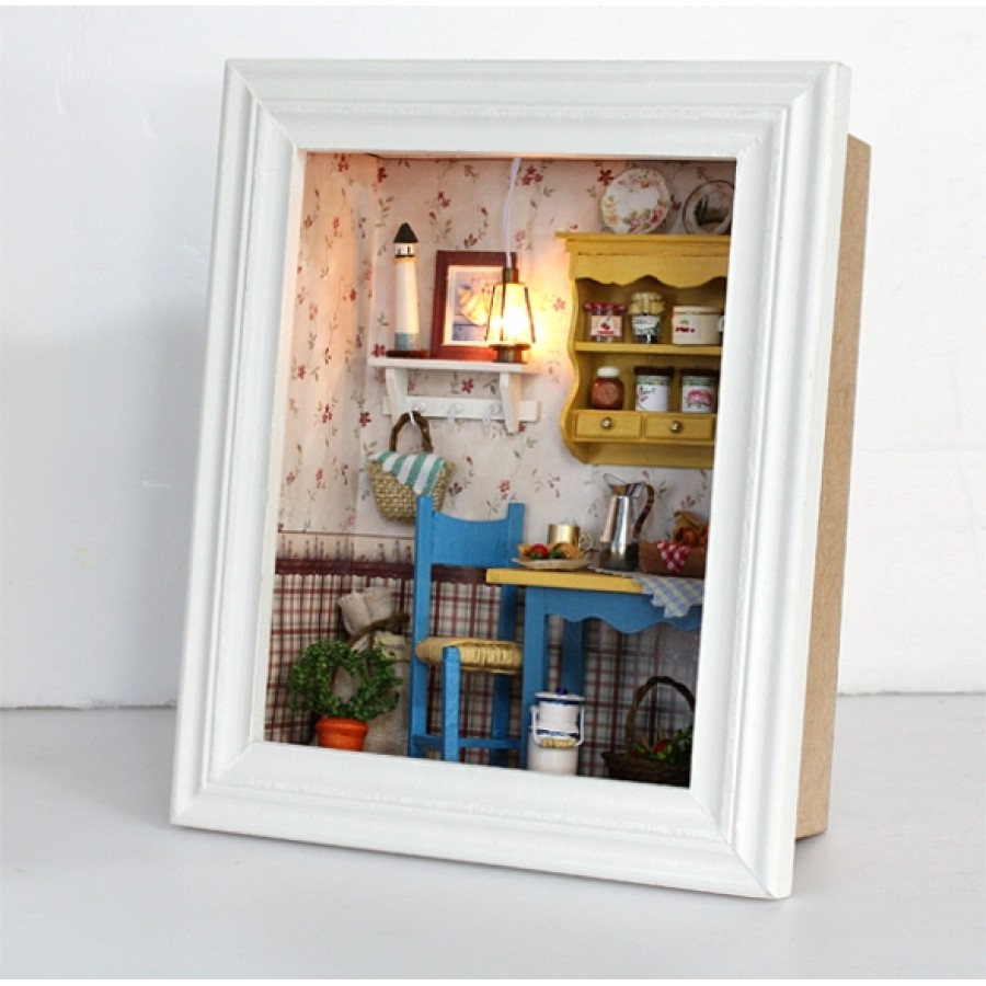 DIY KIT: 3D WOODEN PHOTO FRAME SERIES ~ Leisurely Lunch