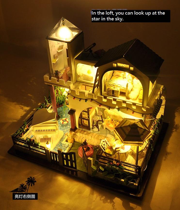 New~Dollhouse Miniature-TB3, 2 Story Holiday Villa, W