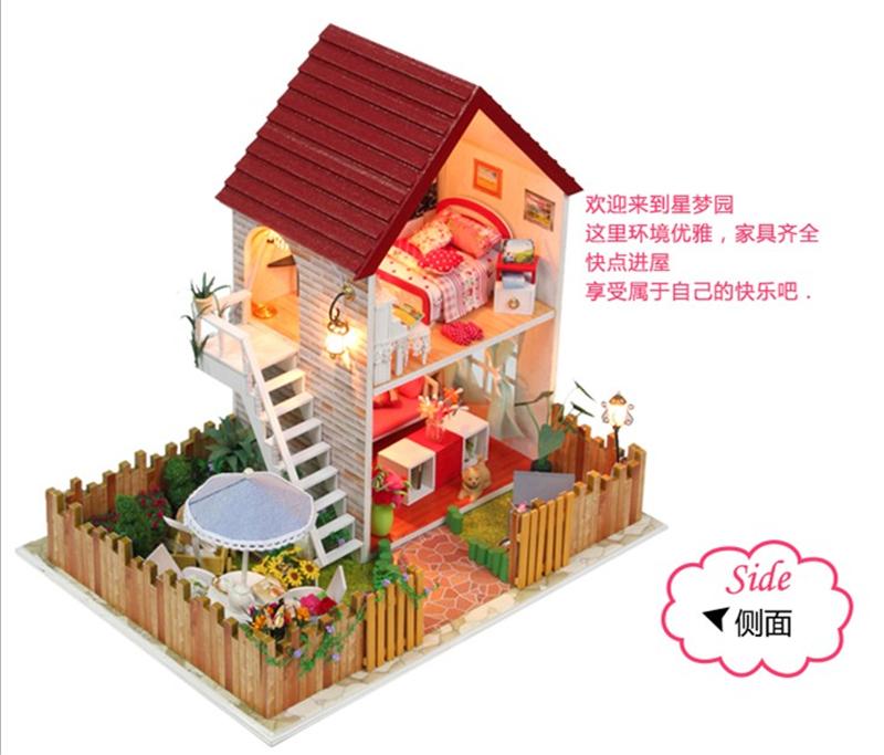 Dollhouse Miniature DIY Kit- #13828, Dream House With